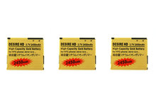 Seasonye 3pcs/lot 2450mAh BD26100 Gold Replacement Battery For HTC G10 Desire HD Surround T9188 T9199 A9191 Inspire 4G A9192 ect