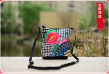 New Colorful Nation Women's Nice Embroidered Small bags!Hot Price-promotion embroidered small shoulder carry bags day clutch