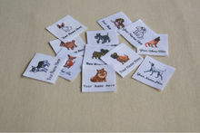 40 Dogs Name Tags - iron on name labels for children's clothing, personalized and printed on organic cotton