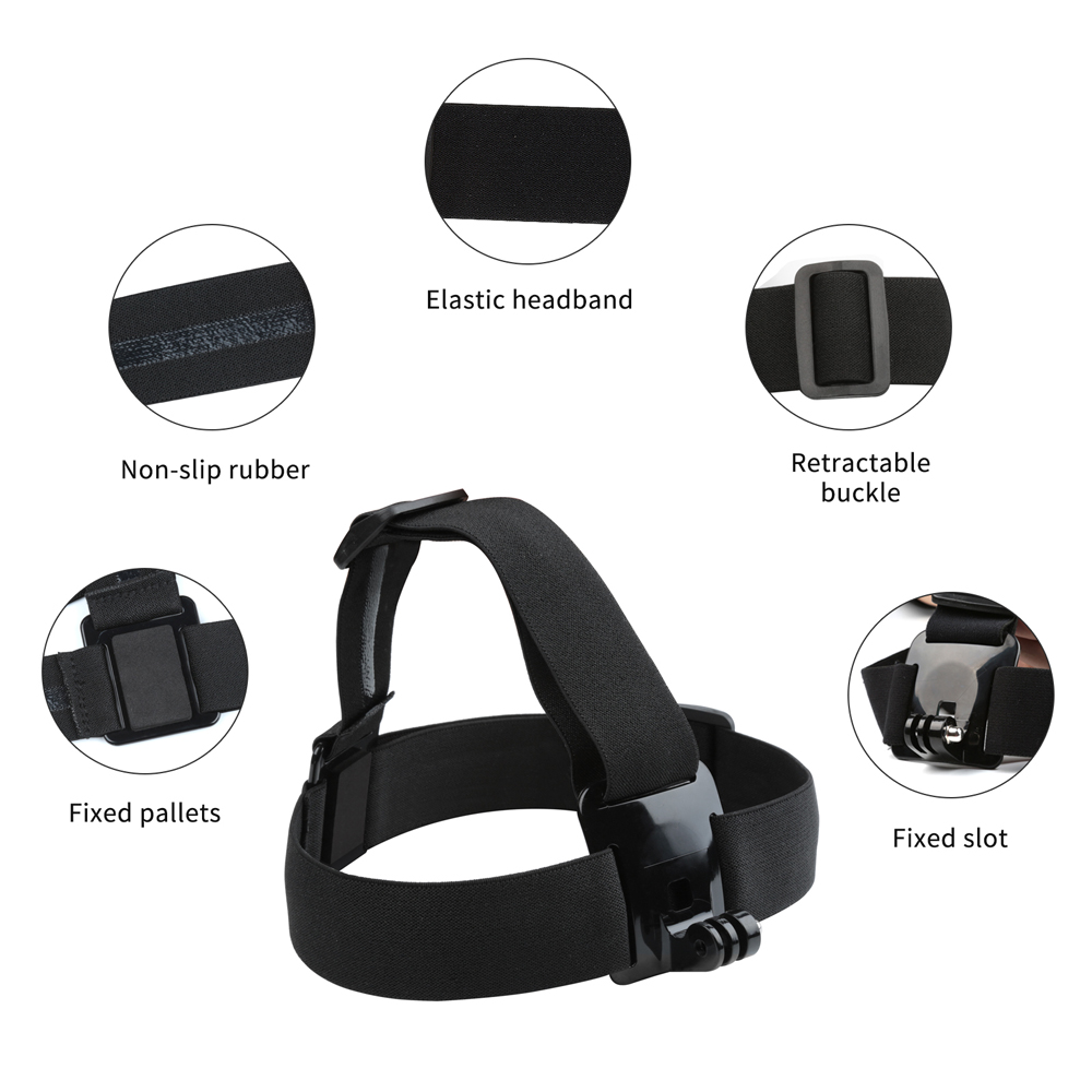 SHOOT for Xiaomi Yi Accessories Set Chest Head Strap Monopod Suction Cup Float Grip Waterproof Case for Xiaoyi 1st Camera