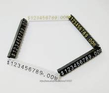 10pcs/lot Acrylic $ Price Tag Dollar Combination Pricing Tags Jewelry Store Accessories Price Showing Lable(China)