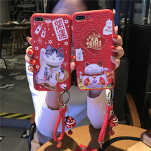 POEME CREATION Mobile Phone Accessories China Red New Year Mobile Phone Case for iPhone X 6 6S 7 8 Plus(China)