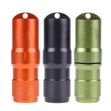 Waterproof Tank Pill Box Case Metal Outdoor Medicine Match Storage Holder Warehouse Life Waterproof Tank Storage pills capsules
