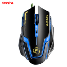 USB Wired Gaming Mouse Gamer 3200DPI 6 Buttons LED Optical Computer Mouse Cable Mice For PC Laptop Player Game LOL CSGO Dota(China)