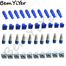 20 set/LOT camlock connectors/ 10set gray+ 10set blue male/female for led stage lighting/beam equipment