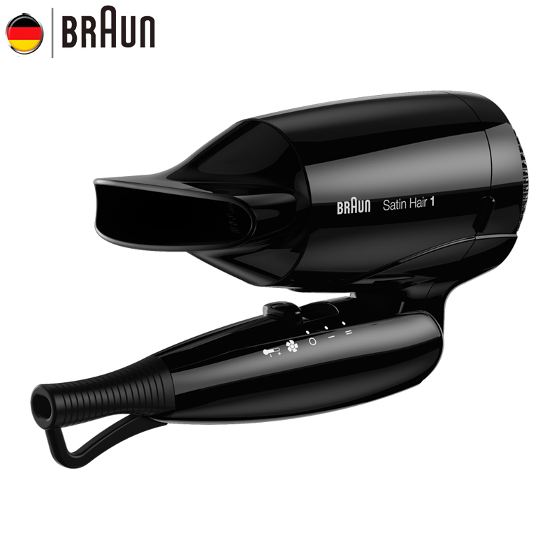 Braun Mini Hair Dryer 130 Hair Styling Tools Professional Foldable Electric Hairdryer Fast Drying Foldable Blow Dryer <br>