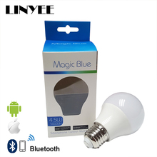 2017 New Arrival Magic Blue 4.0 Bluetooth LED Bulb E27 RGBW Smart LED Light Bulb Timer Color changeable by IOS / Android APP(China)