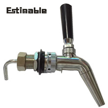 Homebrew beer tap Stainless Steel Beer faucet Polished Chrome Draft tap with filter disk home brew bar accessories
