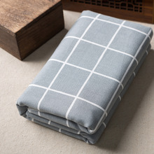 Exporting South Korea and Japan cotton linen grid cloth Zakka style linen tablecloth fabric(China)