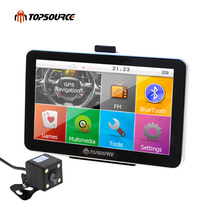 "7"" Portable Bluetooth Russian Spain Vehicle Car GPS Navigation Truck gps Navigator 800MHZ 256M 8G Europe Usa France Uk Navitel(China)"