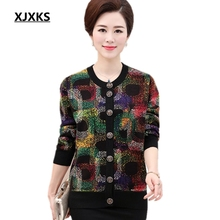 XJXKS Single breasted new 2017 autumn and winter christmas sweater hot sale all-match warm women sweaters Plus size Cardigan