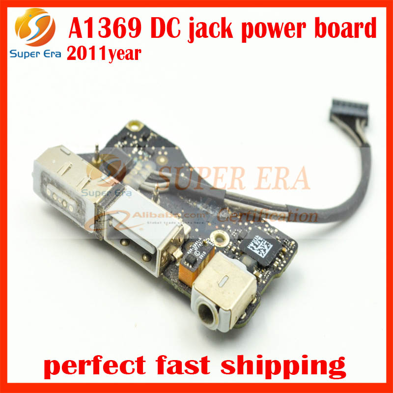 perfect Original Used for Apple MacBook Air 13 A1369 Mid 2011 Year power I/O Board Audio DC-IN Jack Board 922-9963 820-3057-A<br>