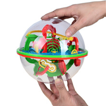 100 Steps 3D Labyrinth Magic Rolling Globe Ball Marble Puzzle Cubes Brain Teaser Game Sphere Maze Small Big Size For Kids