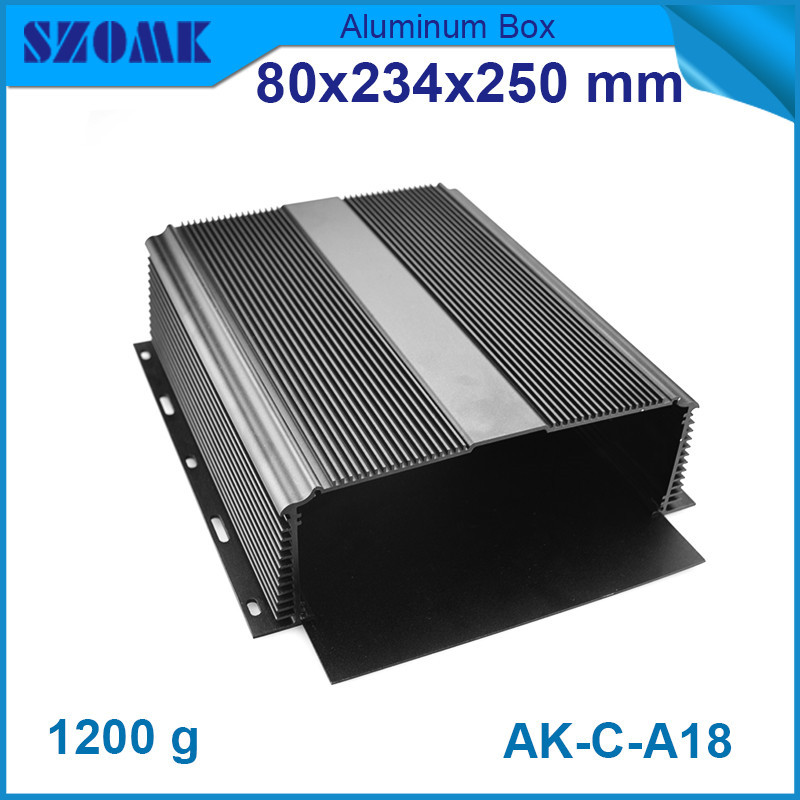 10 pieces/lot top sales aluminum profiles extrusion housing for diy electrical pcb broad 80x234x250mm<br>