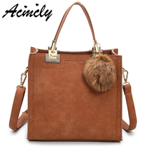 New Arrival 2018 Women Fashion Handbags Pu Leather Scrub Shoulder Lady Bags Messenger Big Leisure Handbag for Women A1865/o(China)