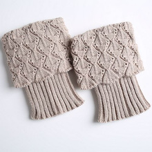 1 Pair Women's Boot Cuffs Toppers Leg Warmers Sock  Knitted  Short  Boot Socks