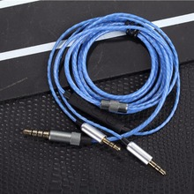 Headphone Audio Cable Nylon Flexural Replacement 1.2m Audio Cable With Mic For Sol Republic Master Tracks HD V8 V10 V12 X3