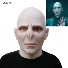 Masks Costume-Prop Voldemort-Mask Latex Scary Cosplay Boss Horrible Dark-Lord Men Masque