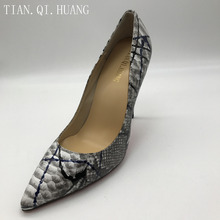 New Arrival High Heels Shoes Styles Fashion Design Pumps Women Genuine leather Woman Sexy Shoes Brand TIAN.QI.HUANG