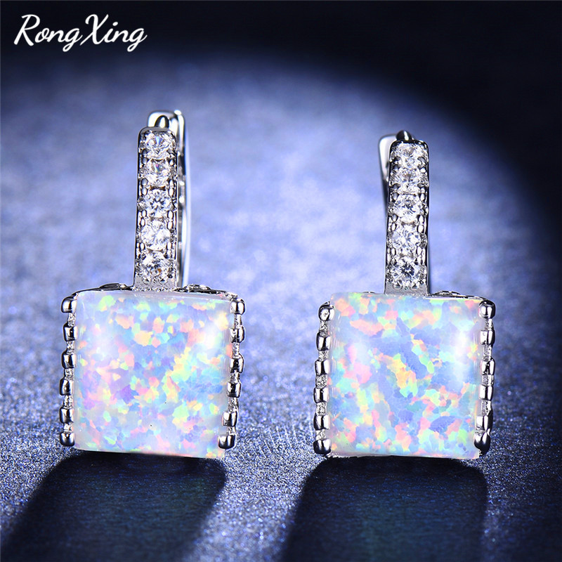 Or Rose Sur Argent Sterling 925 ROSE TOPAZE /& Pink Fire Opal Inlay Boucles d/'oreilles