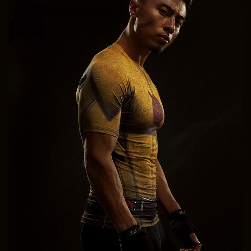 Short Sleeve 3D T Shirt Men T-Shirt Male Crossfit Tee Captain America Superman tshirt Men Fitness Compression Shirt Punisher MMA 45