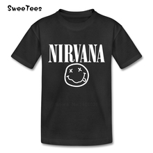 Nirvana Kurt T Shirt Neck Tshirt Smiley Star T-shirt For Boy Cobain baby Cotton O Face Children Clothes 2017 Rock N Roll Girl