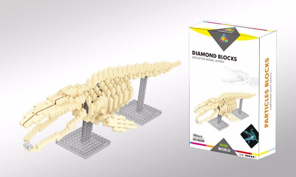 380Pcs//Set DIY Diamond Dinosaur Skeleton Building Blocks Kids Toys Gifts