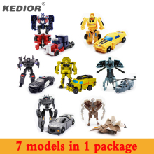 New Hot 7pcs Hero Toy Hero Transformation Robot Cars Deformation Robot action figures Toys gift for boy(China)