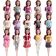 Random 5 Set Beautiful Barbie Doll Clothes Pants Or Skirt Fashion Dolls Dress Outfit For Barbie Dolls Best Girl's Gift Kid's Toy(China)