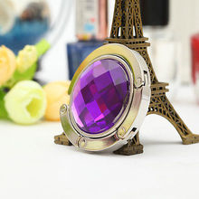 New Fashion Portable Foldable Folding Table Purse Bag Hook Hanger Holder Handbag Alloy and Crystal