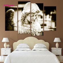 AtFipan Unframed Angel Painting Canvas Wall Spray Painting Modern Decorative Canvas Art Work Prints On The Living Room Posters