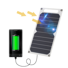 Solar Charger Banker Portable Ultra Thin Silicon Solar Panel USB Mobile Chargers for Camping Riding Climbing Outdoor Use(China)