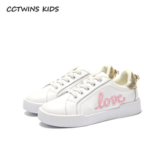 Buy CCTWINS KIDS 2017 Children Genuine Leather Sport Trainer Baby Girl Kid Pearl Casual Flat Toddler Fashion Embroidery Shoe F1801 for $23.80 in AliExpress store