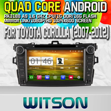 WITSON S160 CAR DVD for TOYOTA COROLLA 2007-2012 STEREO GPS Quad Core Android 4.4+CAPACITIVE 1024X600 HD+16G Flash+PIP+WIFI/DVR