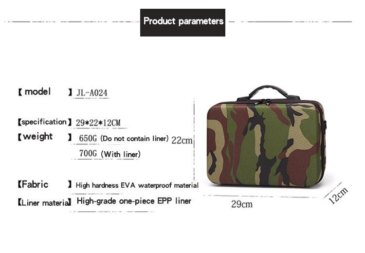 For DJI Spark/Mavic Pro Camouflage Bag Case Bag Cam Portable Handbag Shoulder Bag Carry Case for DJI Mavic Pro Accessories