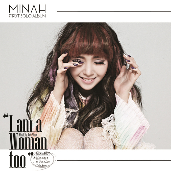 MINAH (GIRLS DAY) FIRST MINI ALBUM - I AM A WOMAN TOO (SMC CARD ALBUM) NO POSTER MINAH ALBUM KPOP ALBUM<br>