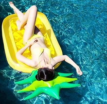 Swimming Pool Floats Pineapple 190CM Air Mattress Inflatable Pool floats For Adults Pontoon Floating Island Water Boat Swimming(China)