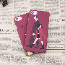 Buy Luxury Cartoon Hard PC Cases iPhone 6 6s 8 plus Movie Leon Mathilda Pattern Hard PC Full protection Case iphone 7 coque for $2.09 in AliExpress store