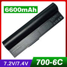 4400mAh Laptop Battery For Asus 90-OA001B1100 A22-700 A22-P701 P22-900 Eee PC 2G 4G Surf 8G 4G-X Eee PC 700 701 900 6 cells(China)
