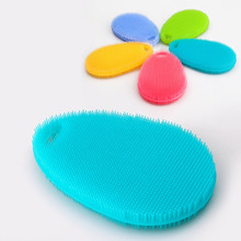 2Pcs Silicone Dish Washing Sponge Scrubber Hot Multipurpose Kitchen Antibacterial Tools Kitchen Cleaning Silicone Cleaning(China)