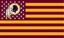 Washington Redskins logo with  US stars and stripes Flag 3FTx5FT  Banner 100D Polyester  flag 90x150cm
