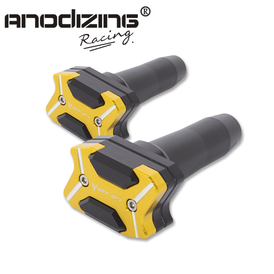2017 NEW CNC Aluminum  Left and Right Motorcycle Frame Slider Anti Crash pads Protector For  YAMAHA MT07 MT-07 2013-2017<br>