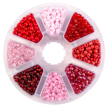 Pandahall Elite Mixed Colors 6/0 Round Glass Seed Beads, 4mm, Hole: 1.5mm; about 1440pcs/box; Accessories for DIY Jewelry Making
