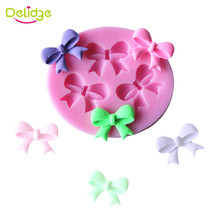Delidge 1Pc Bow Ties Silicone Cake Mold 3D Chocolate Candy Mold DIY Cake Tools Baking Pastry Fondant Cake Decorating Tools