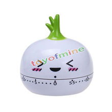 Cartoon Mini radish Kitchen Egg Timer Alarm Clock 60 Minutes Cute Vegetables Cooking Mechanical Dial Home Decor Tools(China)