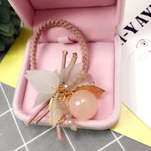 Korea Spring New Style Crystal Hair Accessories Hair Bows Elastic Hair Bands Rubber Band Hair Ring Headbands For Women(China)