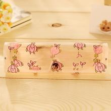 Popular Transparent Protector Case Cartoon Glasses Portable Metal Button Box Storage containers Organizadores
