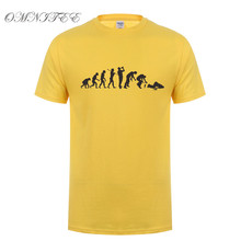 Drunk Evolution T Shirts Summer Style Short Sleeve Mens T-shirt Cotton O-neck Drunk Men Clothing Tops OT-558
