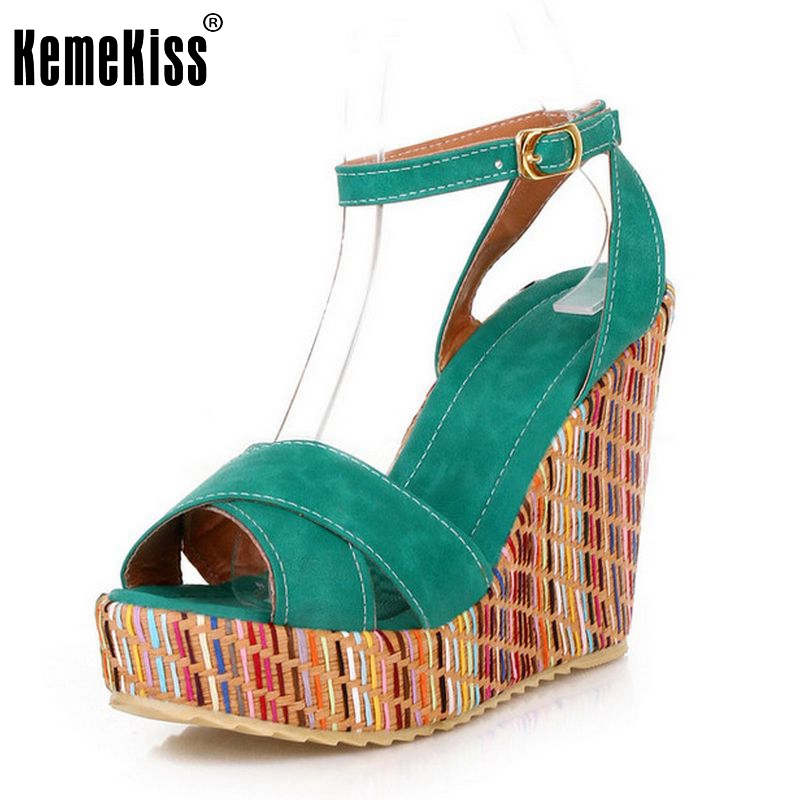 Superior Qality Summer Style Bohemian Wedges Women Sandals For Lady Shoes High Platform Open Toe Flip Flops Size 34-39 PA00658<br><br>Aliexpress