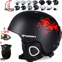 MOON Skateboard Ski Snowboard Helmet Integrally-molded Ultralight Breathable Ski Helmet CE Certification Cheap for sale(China)